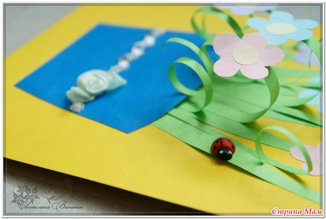Лёгкая открытка для бабушки на день рождения своими руками