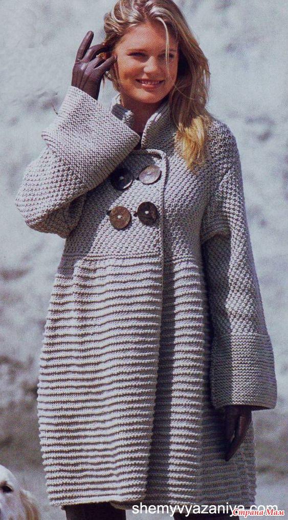 Вязанное пальто своими руками