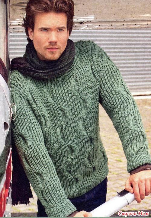 Связать свитер для мужа