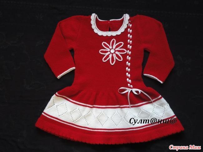 Идеи для вязания детских платьев