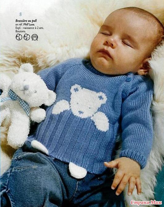 Вязать свитер с мишкой
