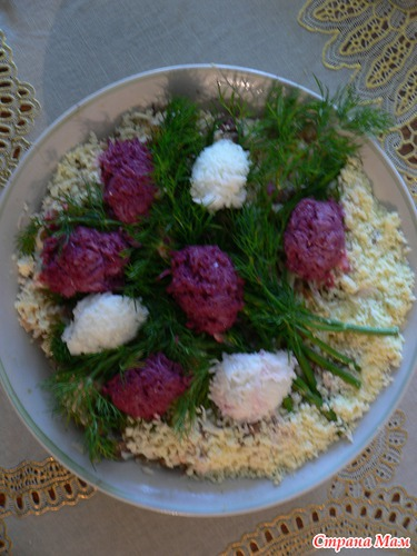 салат сиреневый букет фото
