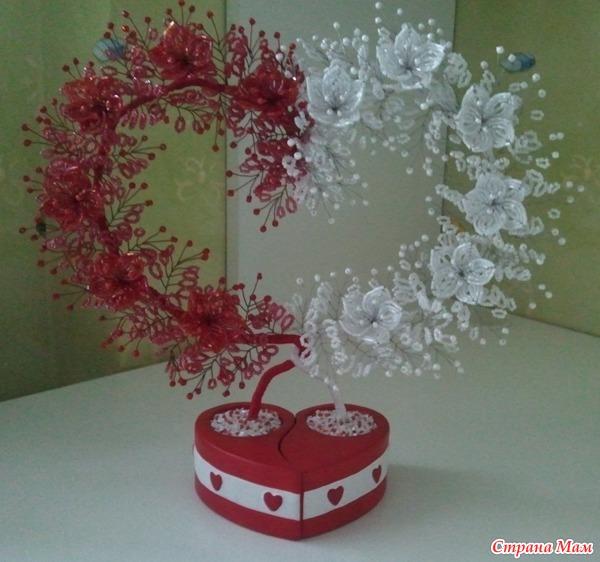 Бисероплетение дерево сердце