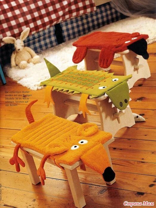 Подушка на стулья своими руками фото