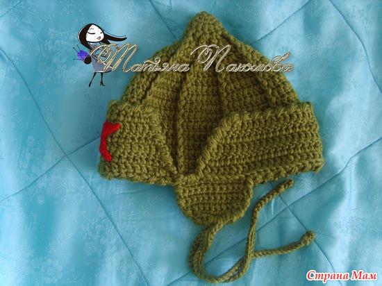 Вязание шапки будёновки 22