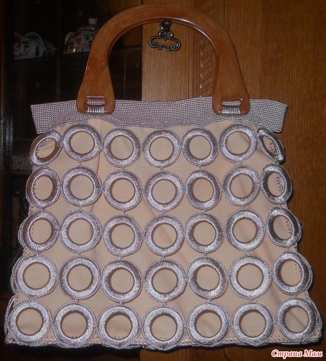 Вяжем сумку из колец
