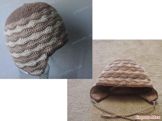 зимняя шапка крючком крупная пряжа