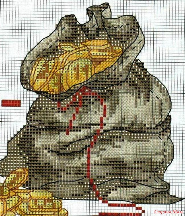Схема для вышивки крестом деньги