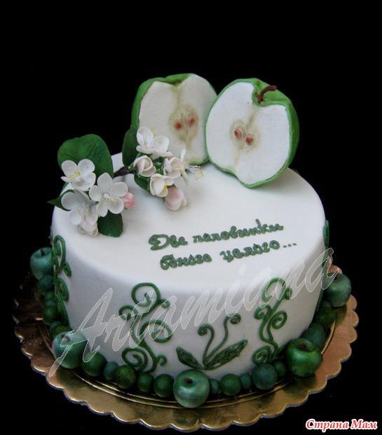 Торт из крема на годовщину свадьбы фото