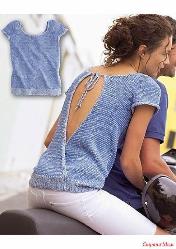 Джемпер с ажурной спиной