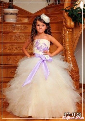 Пышные бальные платья для девочек