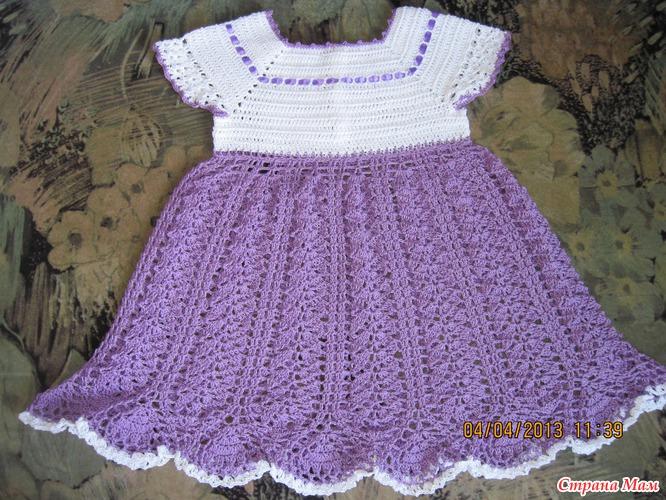 Платья крючком для девочки схемы с фото