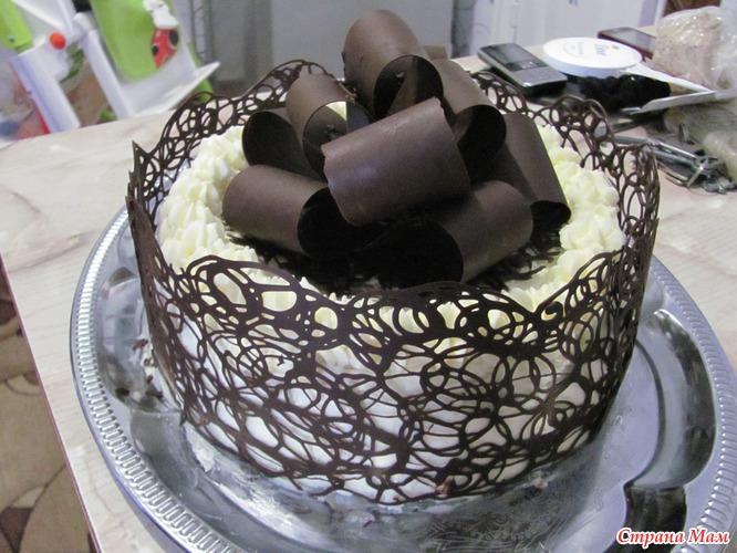 Украсить шоколадный торт на день рождения фото