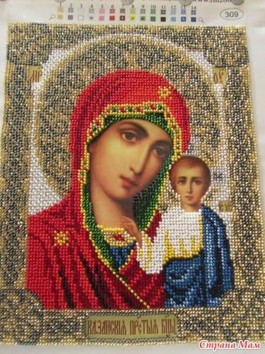Казанская богородица вышивка бисером