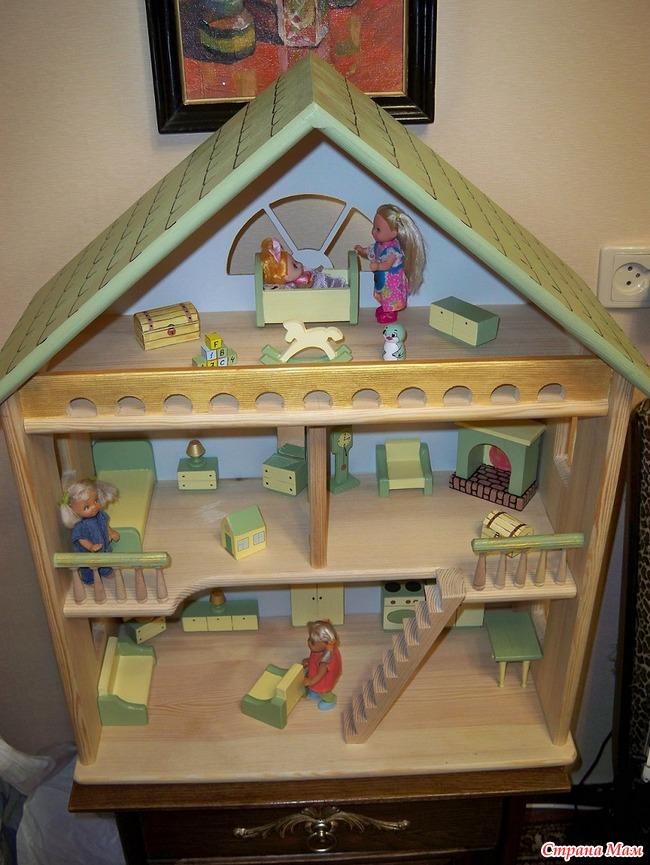 Сделать детский домик для кукол своими руками фото