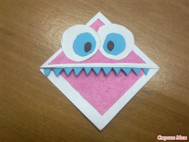 Зубастики из бумаги своими руками