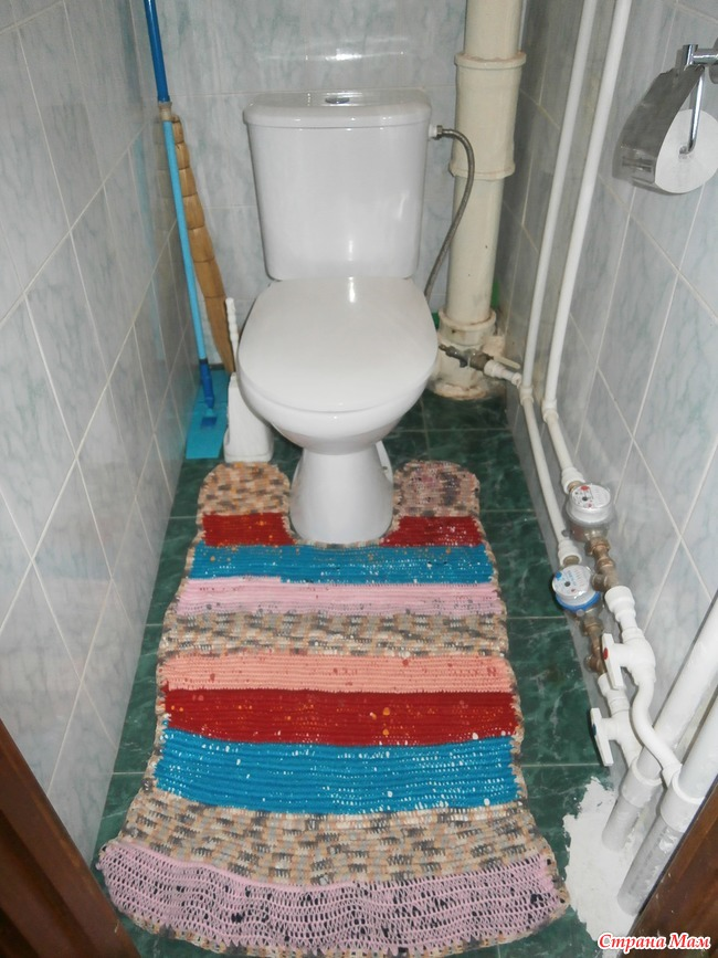 Сшить коврик для ванной и туалета