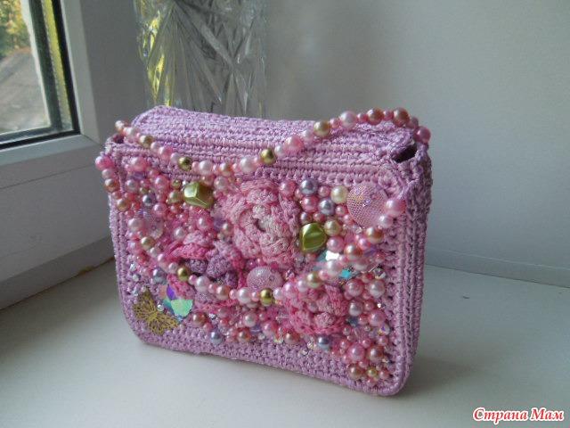 Как сделать из ленты сумку 127