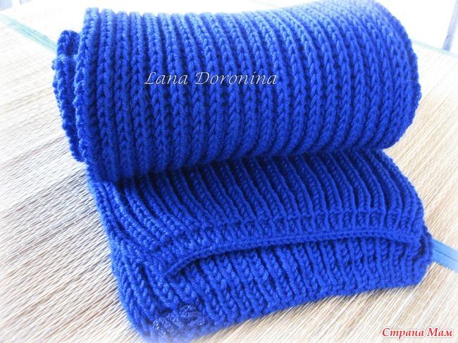 Шарф мужской вязание для начинающих спицами