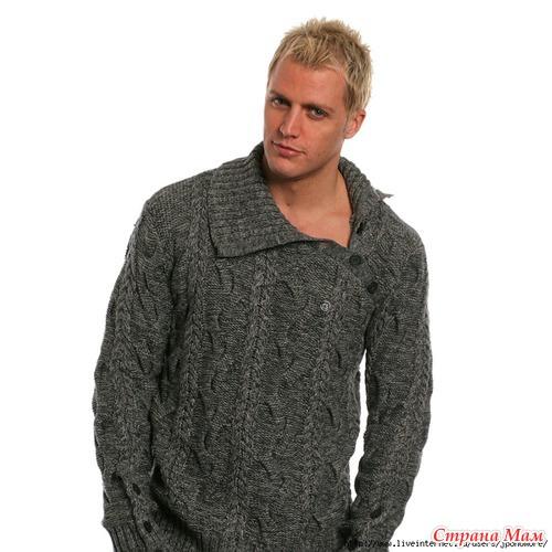 Мужской свитер! Нужна схема.
