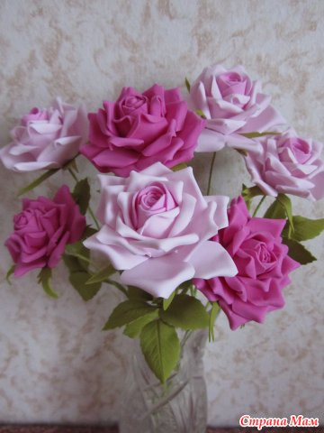 Цветы из фоамирана инструменты