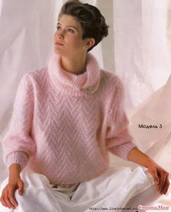Вязание мохерового свитера