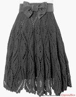 Вязанная юбка солнце