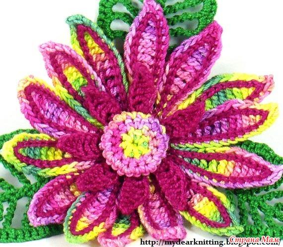 схема центра цветка.