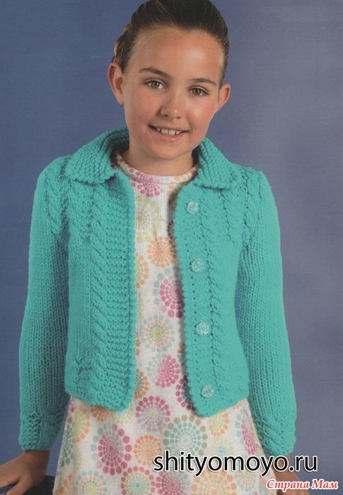Вязание жакета спицами для девочек