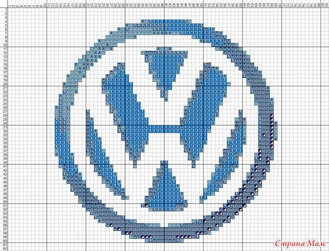 Схема вышивки логотип
