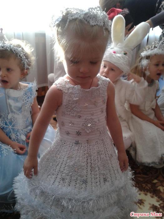 Платье снежинки связать своими руками
