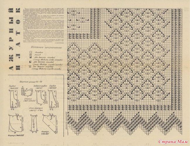 Вязание оренбургский пуховый платок схема вязания спицами