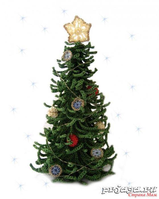Как вязать новогоднюю елку