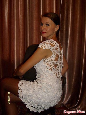 Очень красиво платье крючком