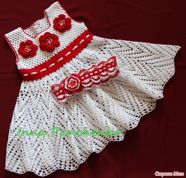 Вяжем детское платье крючком мастер класс 122