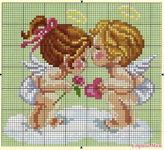 Схемы вышивок ангелов