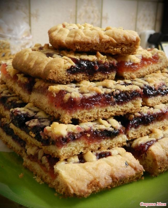 Песочный тертый пирог с вареньем пошагово и