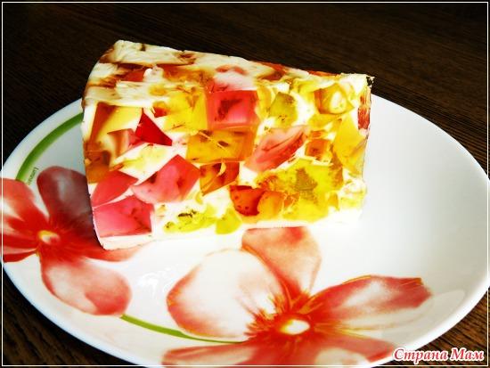 Желейный торт битое стекло. фото