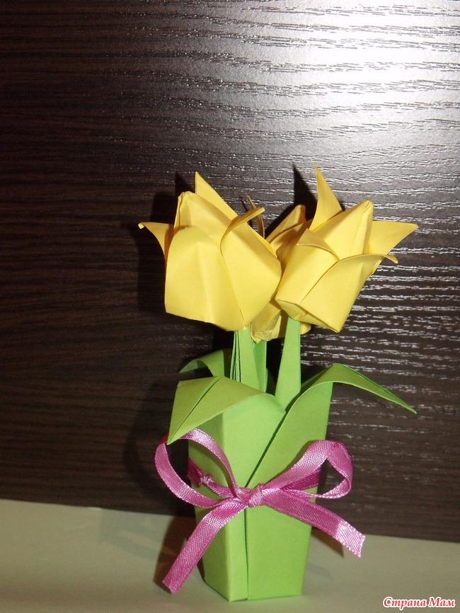 Поделки из бумаги оригами солнышко