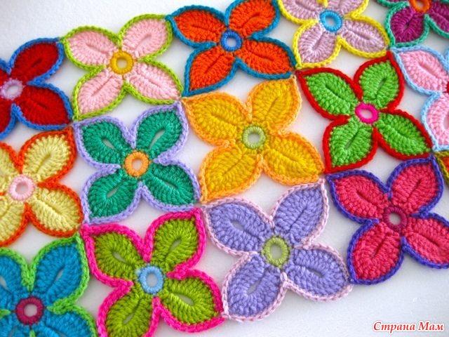 *Гавайский цветок крючком: