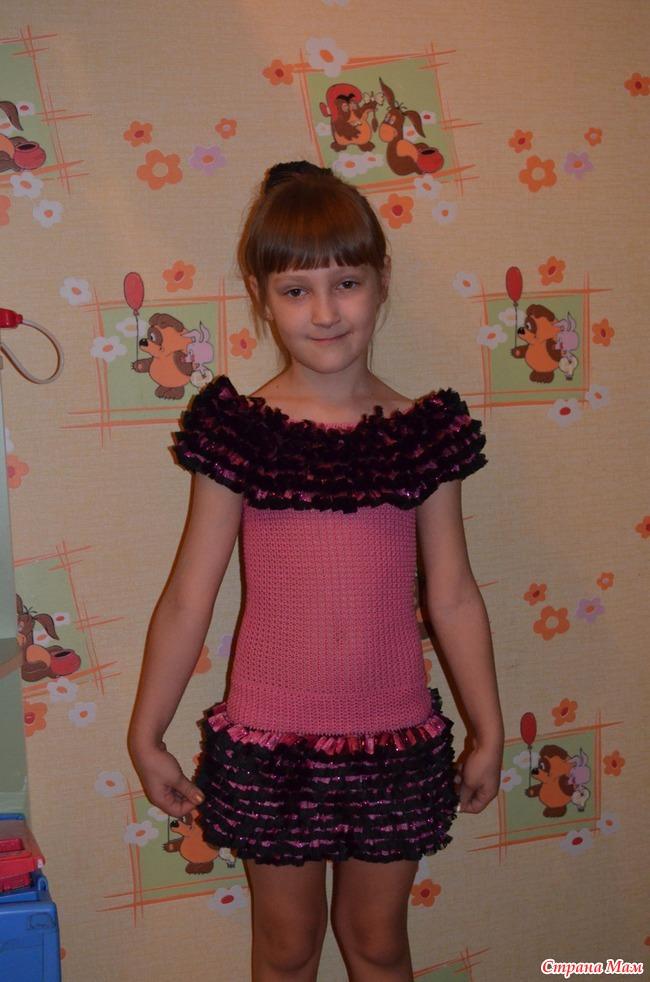 платье шоколадноекрючком