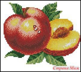 Персики схема вышивка