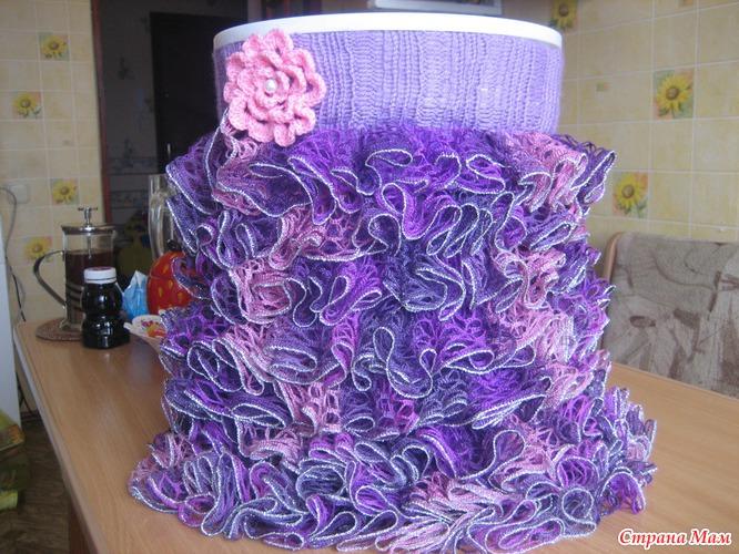Вязание крючком схемы ленточной пряжей