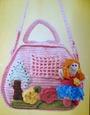 Вязание для детей крючком схемы и модели: розовая детская сумочка.  Сохранить сообщение в цитатнике.