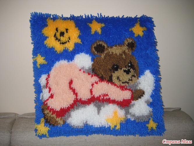 Подушечка в ковровой технике - Вышивка и все о ней - Страна Мам