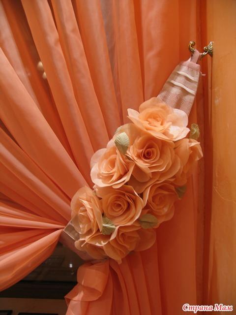 Цветы к шторам своими руками
