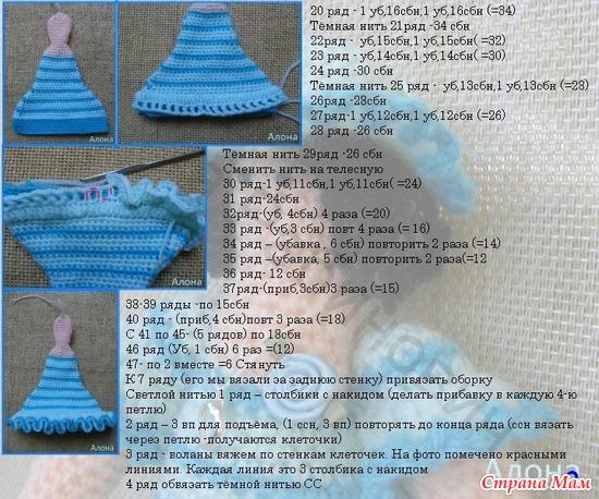 Схемы вязания крючком для куклы тильды 135