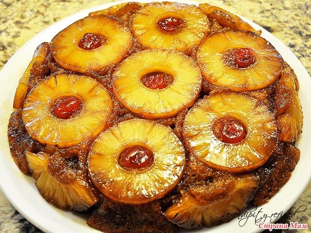Пирог с ананасами консервированными с