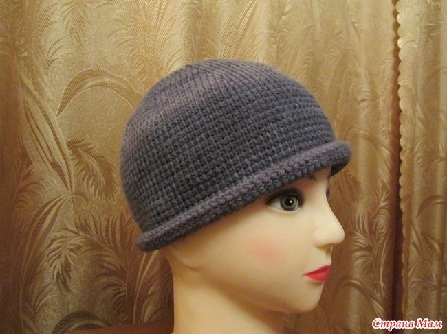 Тунисское вязание крючком шапка