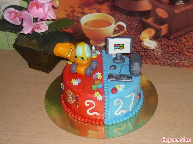 Торты на день рождения 42 фото